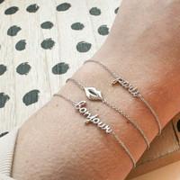Souvenir Silverplated Bracelet Lips