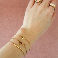 Souvenir Goldplated Bracelet Lips