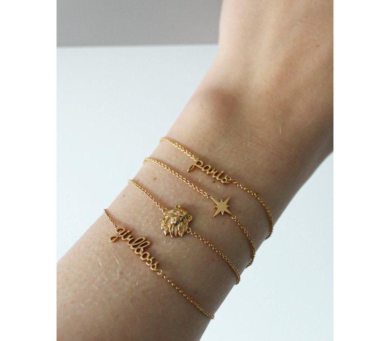 Souvenir Goldplated Armband Leeuw