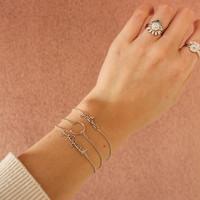 Souvenir Silverplated Bracelet Circle