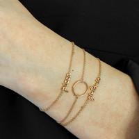 Souvenir Goldplated Armband Cirkel