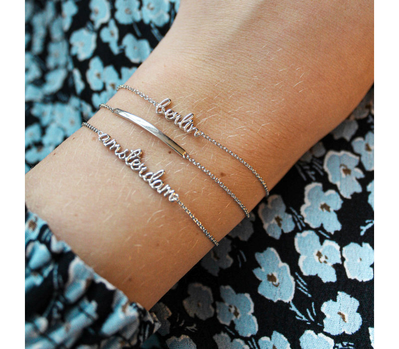 Souvenir Silverplated Armband Staaf