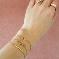 Souvenir Goldplated Armband Staaf