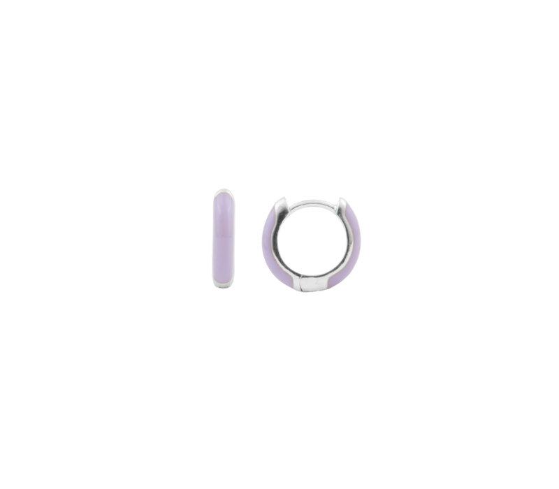 Bloom Silverplated Earring Purple