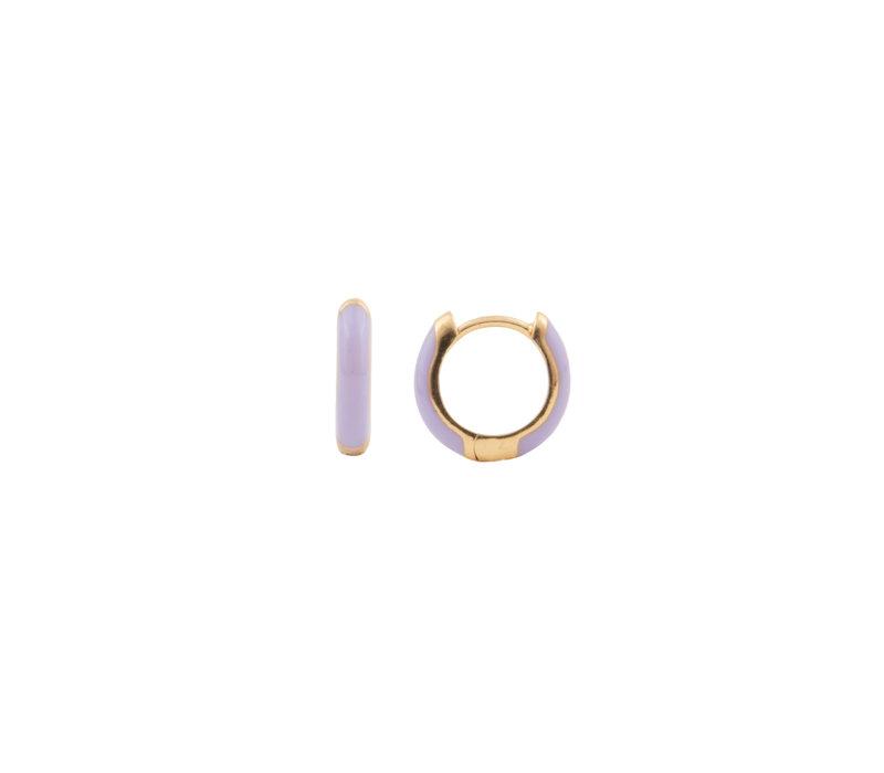 Bloom Goldplated Earring Purple