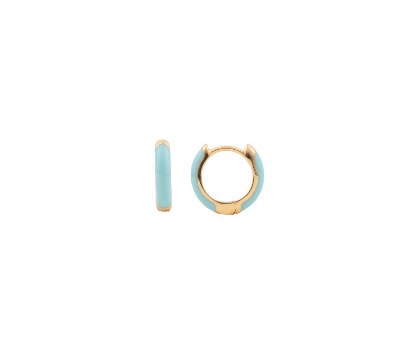 Bloom Goldplated Earring Light Blue