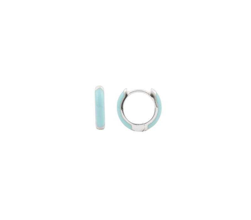 Bloom Silverplated Earring Light Blue