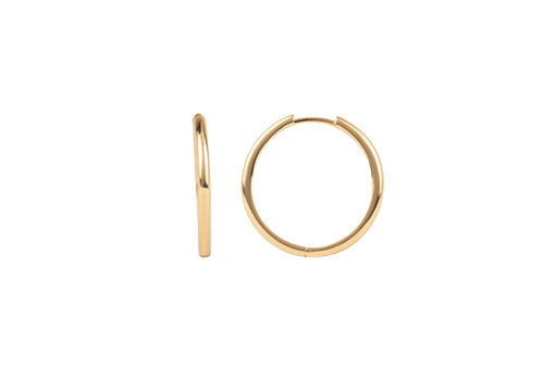 All the Luck in the World Essentials Goldplated Hoop Huggie Egaal Groot