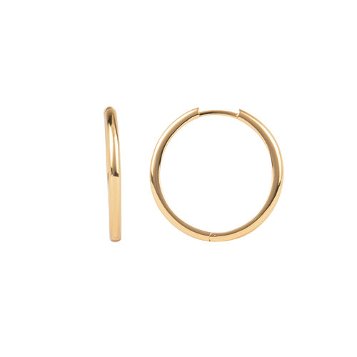 Essentials Goldplated Hoop Huggie Plain Big