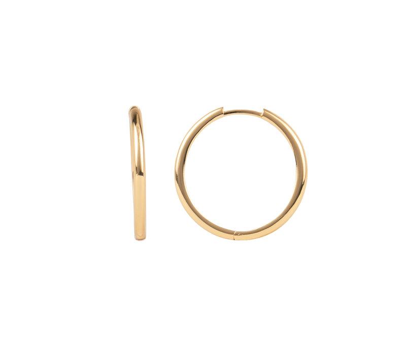 Essentials Goldplated Hoop Huggie Plain Big