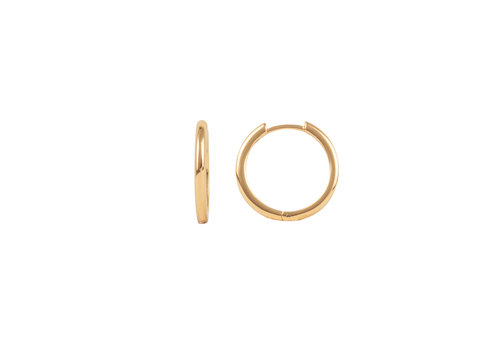 All the Luck in the World Essentials Goldplated Hoop Huggie Egaal Medium