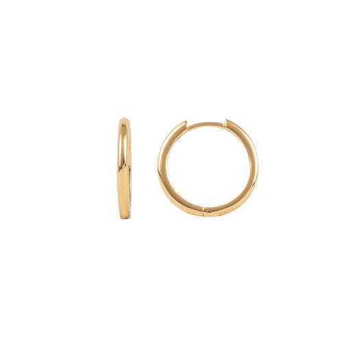 Essentials Goldplated Hoop Huggie Egaal Medium