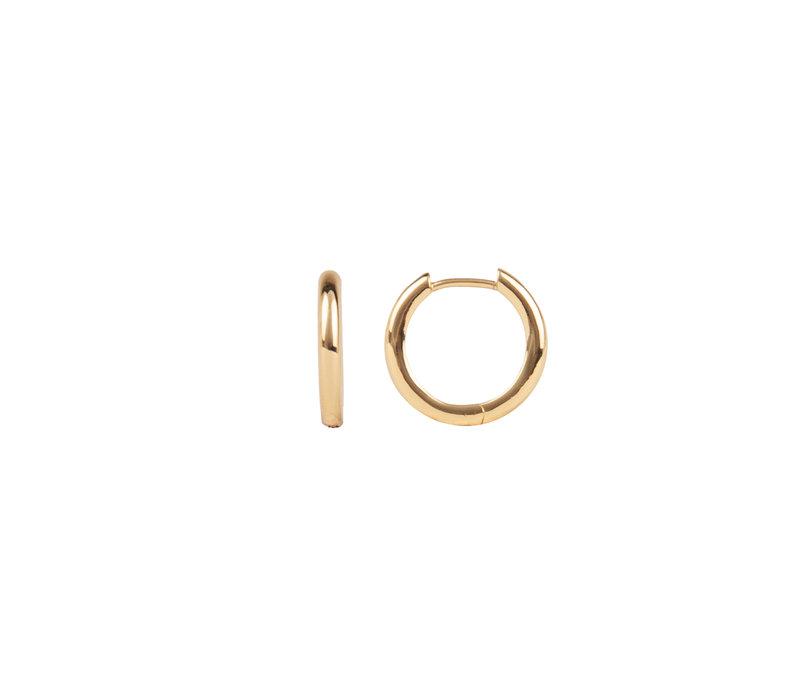Essentials Goldplated Hoop Huggie Egaal Klein