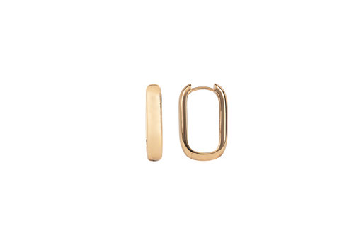 All the Luck in the World Essentials Goldplated Hoop Huggie Ovaal Egaal
