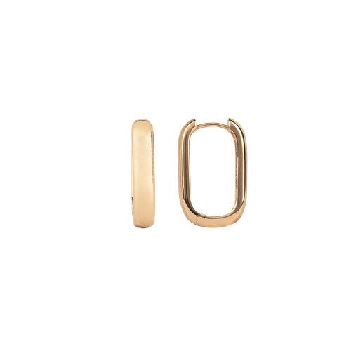 Essentials Goldplated Hoop Huggie Oval Plain
