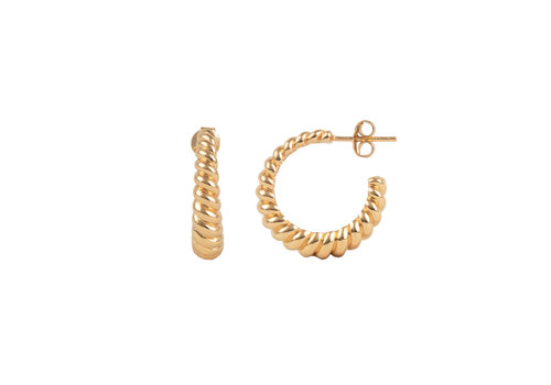 All the Luck in the World Essentials Goldplated Hoop Pin Croissant