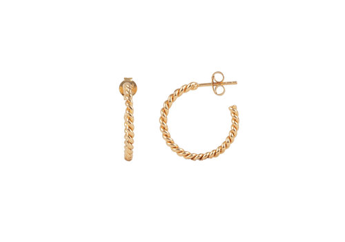 All the Luck in the World Essentials Goldplated Hoop Pin Small Twisted