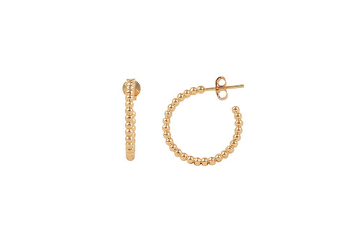 All the Luck in the World Essentials Goldplated Hoop Steker Bolletjes