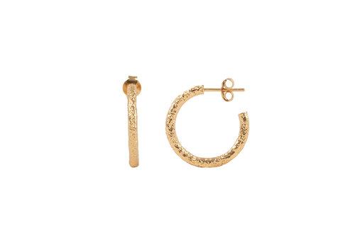 All the Luck in the World Essentials Goldplated Hoop Steker Antiek dun