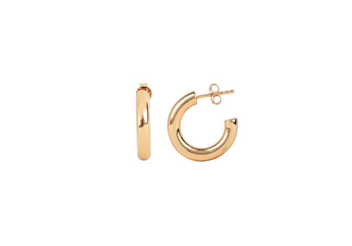 All the Luck in the World Essentials Goldplated Hoop Pin Thick Plain