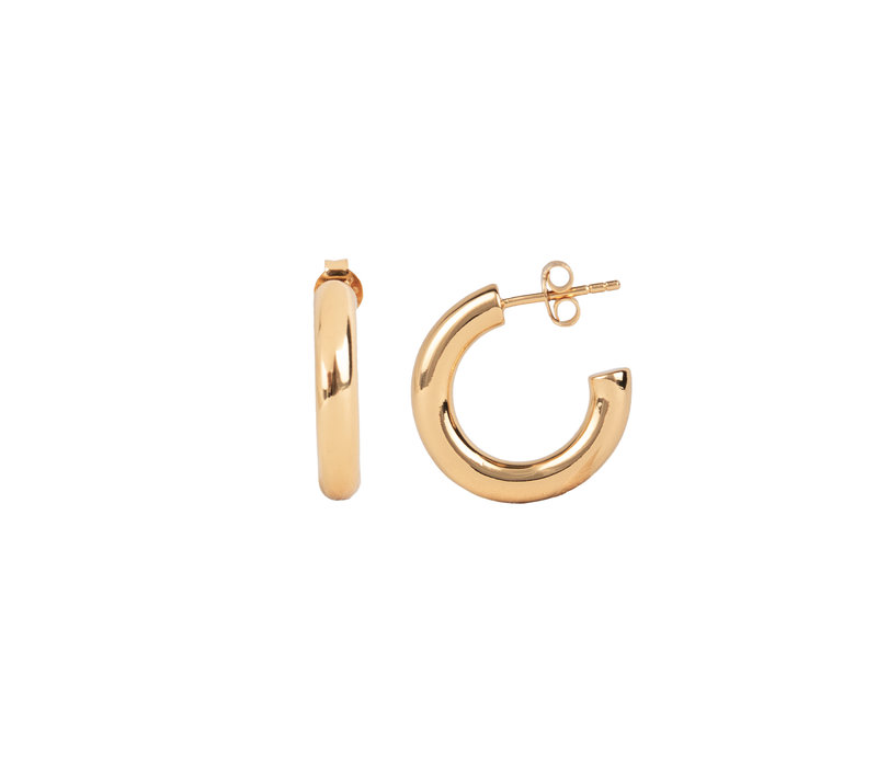 Essentials Goldplated Hoop Pin Thick Plain