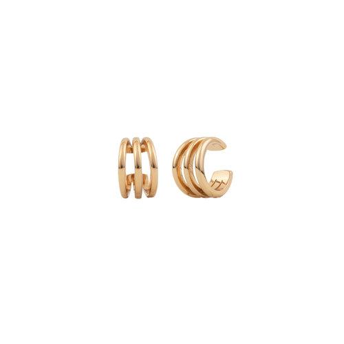 Essentials Goldplated Cuff Driedubbel Los