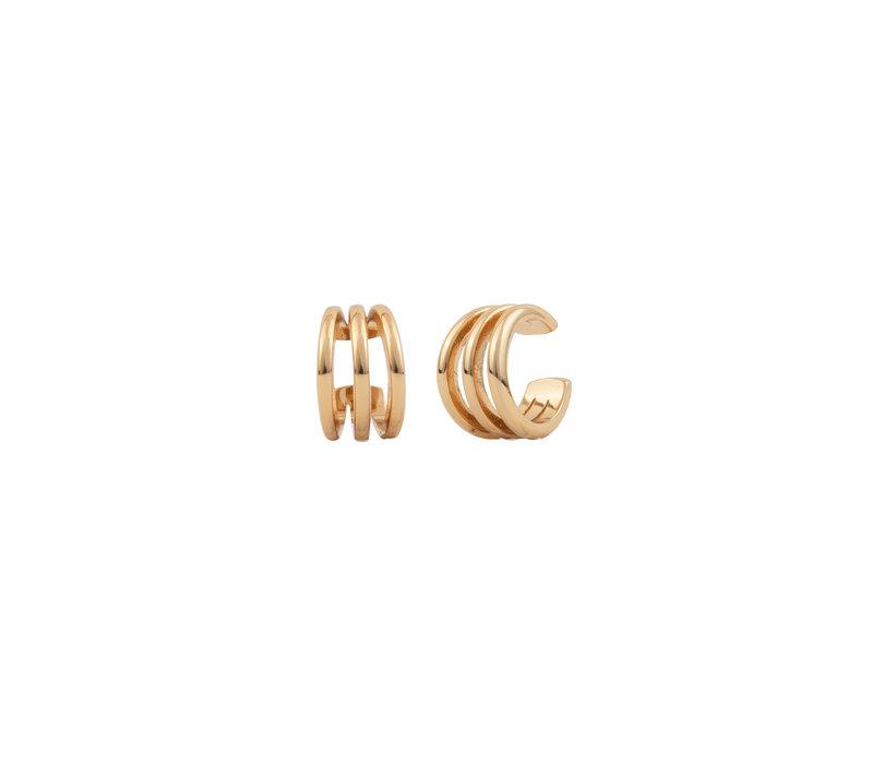 Essentials Goldplated Cuff Triple Apart