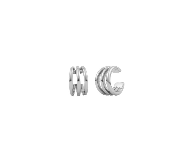 Essentials Silverplated Cuff Triple Apart