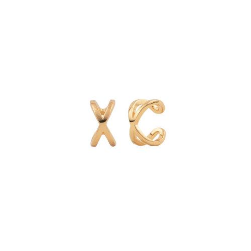 Essentials Goldplated Cuff Egaal Kruis