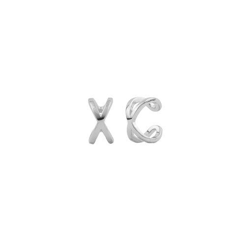 Essentials Silverplated Cuff Egaal Kruis
