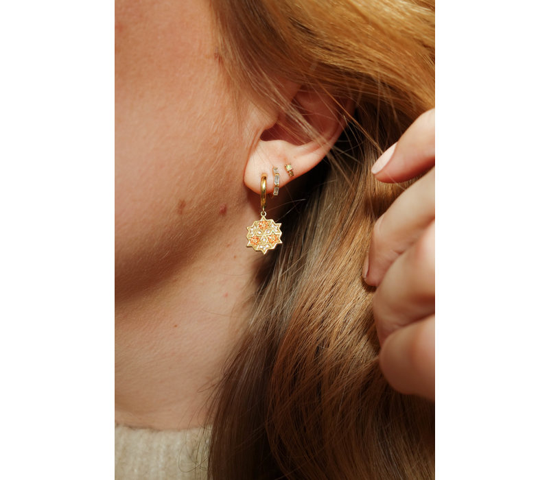 Bliss Goldplated Earring Creole All clear