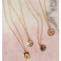 Necklace Scorpio Circle Black plated