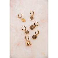 Charm Goldplated Earring Snake Oval