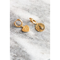 Charm Goldplated Earring All the Luck Circle