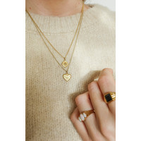 Charm Goldplated Necklace Burst Heart