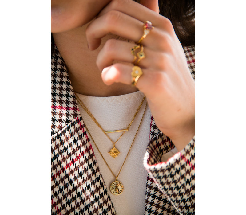 Charm Goldplated Ketting All the Luck Cirkel