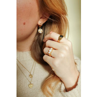Chérie Goldplated Ring Oval Wit