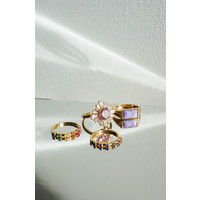 Chérie Goldplated Ring Sun Light Pink Clear