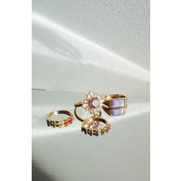 Chérie Goldplated Ring Stippen Multi
