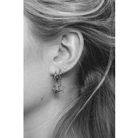 East Silverplated Earring Lucky Cat
