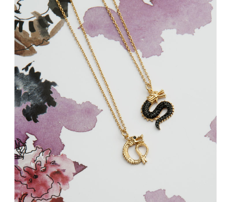 East Goldplated Necklace Small Dragon