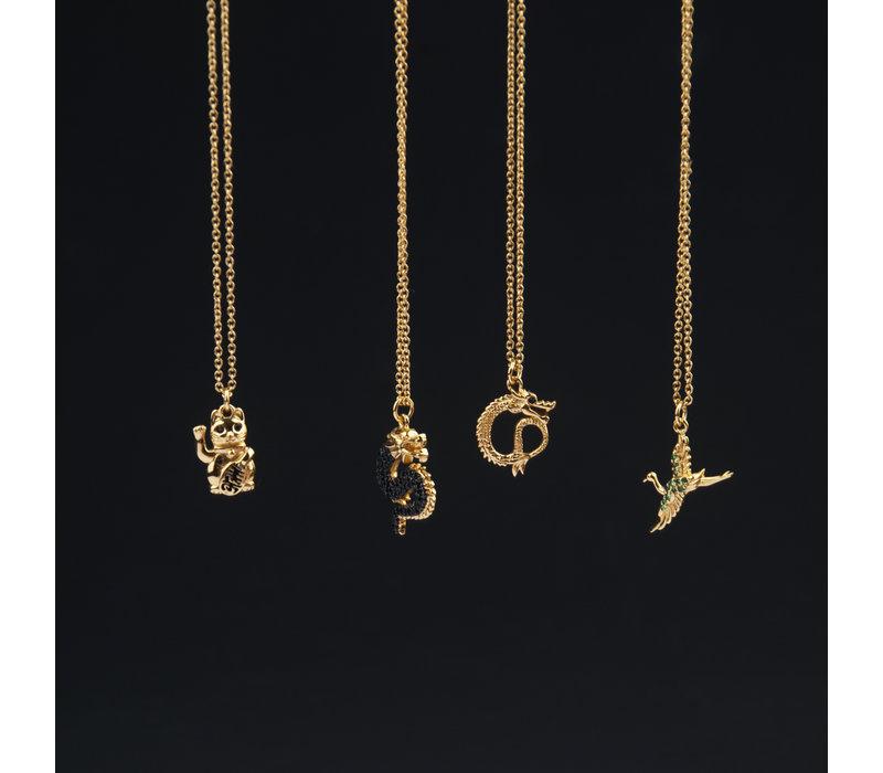 East Goldplated Ketting Kraanvogel