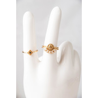 Magique Goldplated Ring Kroon Transparant