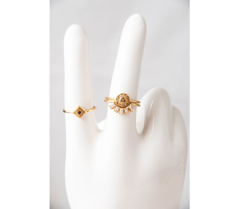 Magique Goldplated Ring Crown All Clear
