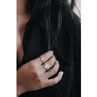 Ring Ruit Zwart verguld