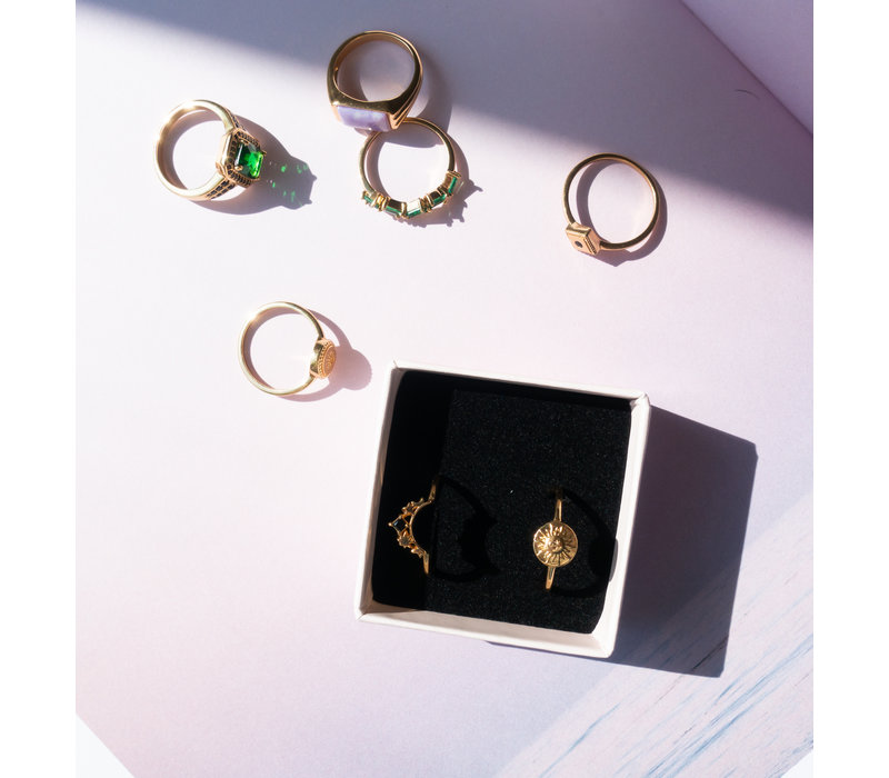 Magique Goldplated Ring Munt Zon