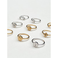 Magique Silverplated Ring Munt Slang