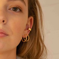 Essentials Goldplated Hoop Pin Small Twisted