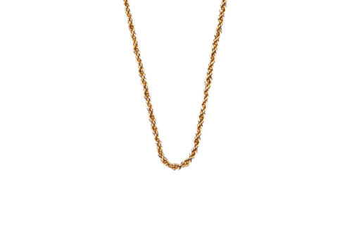 All the Luck in the World Essentials Goldplated Ketting Gedraaid Groot