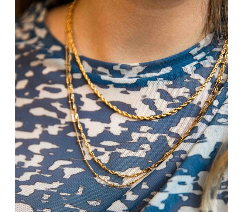 Essentials Goldplated Necklace Twisted Big
